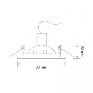 Bombilla led E27 Regulable Filamento T30-S 3.5W Cálida